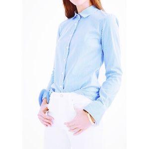 J. Crew Blue Striped Classic Everyday Oxford Shirt
